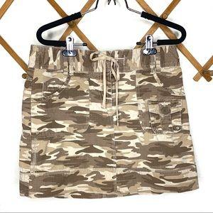 Ann Taylor LOFT camo print mini skirt